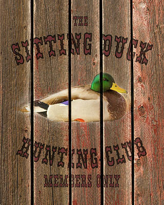 Sitting Duck Hunting Club Art Print