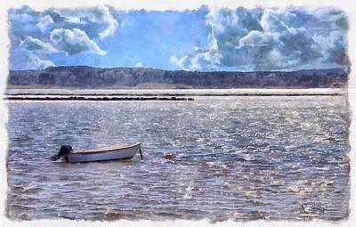 Rowboat Digital Art - Sitting Empty by Richard Stephen