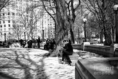 Photograph - Sitting In Central Park by John Rizzuto