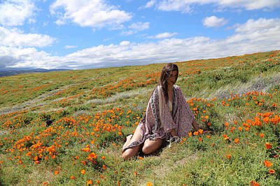 Photograph - Sitting In Flowers Field by Viktor Savchenko