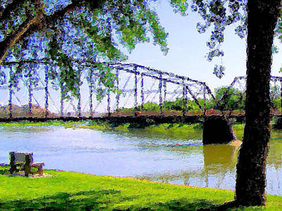 Art Print featuring the photograph Sitting In Fort Benton by Susan Kinney