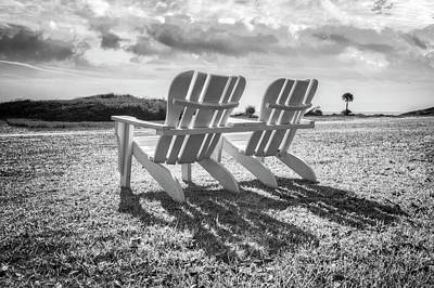 Photograph - Sitting In The Sun Black And White by Debra and Dave Vanderlaan