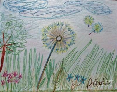 Animals Drawings - Sitting In The Weeds by Just Another-Bird
