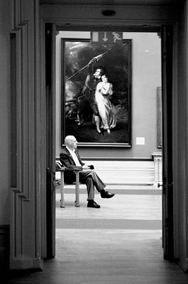 Art Print featuring the photograph Sitting by Jez C Self