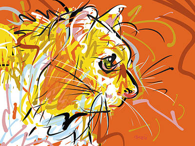 Sitting Kitty Art Print by Brett LaGue
