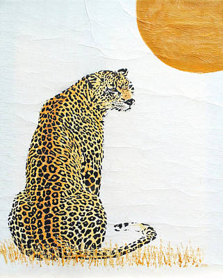 Target Threshold Nature - Sitting Leopard by Stephanie Grant