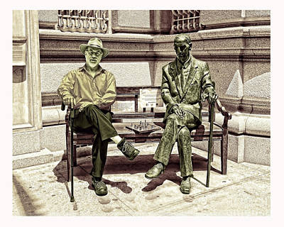 Photograph - Sitting Next To A Statue Of Jan Karski Legendary Polish Underground Courier    by Jim Fitzpatrick