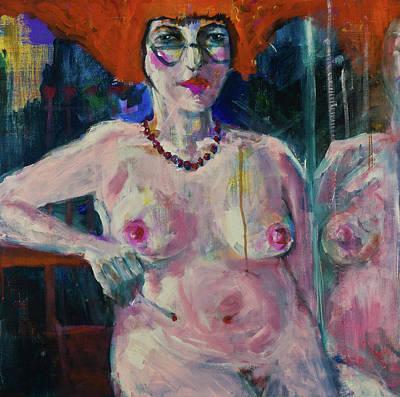 Painting - Sitting Nude by Maxim Komissarchik