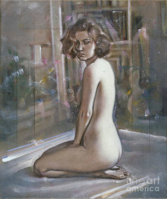 Painting - Sitting Nude by Ritchard Rodriguez
