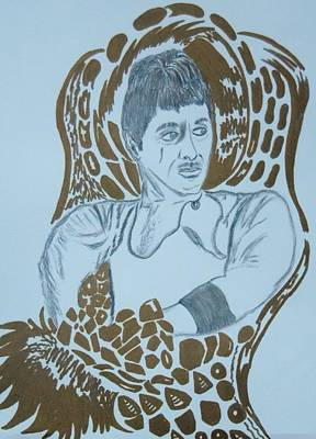 Drawing - Sitting On Gold by Nicole Burrell