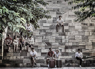 Photograph - Sitting On Staircase by Roberto Pagani