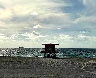 Photograph - Sitting On The Beach by Michael Albright