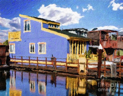 Painting - Sitting On The Dock Of The Bay by Linda Weinstock