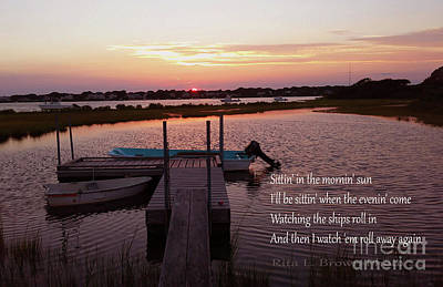 Photograph - Sitting On The Dock by Rita Brown