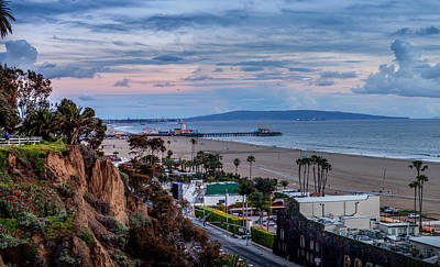 Photograph - Sitting On The Fence 2 - Santa Monica Pier by Gene Parks