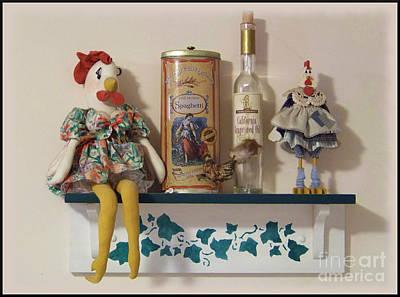 Sitting On The Shelf Art Print by Charles Robinson