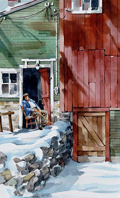 Painting - Sitting Out Winter by Art Scholz