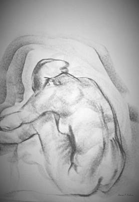 Drawing - Sitting Pose by Denise F Fulmer