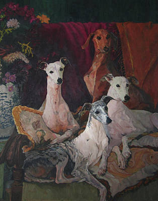 Painting - Sitting-room Foursome by Lynn Gimby-Bougerol