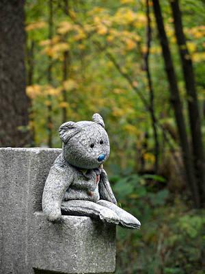 Photograph - Sitting Sad by Cyryn Fyrcyd