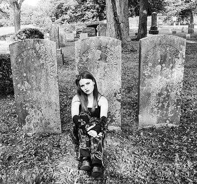 Photograph - Sitting With The Dead by Catherine Hill