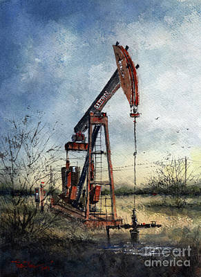 Painting - Sitton Pumpjack by Tim Oliver