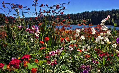 Photograph - Siuslaw River Floral by Thom Zehrfeld