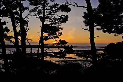 Photograph - Siuslaw Jetty Sunset Sept 2017 by Lara Ellis