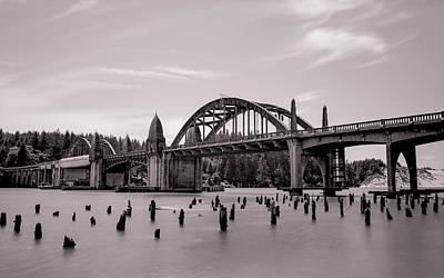 Siuslaw River Bridge Art Print by HW Kateley