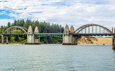 Siuslaw River Draw Bridge  Art Print