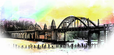Photograph - Siuslaw River Gothic Bridge by Jerry Cowart