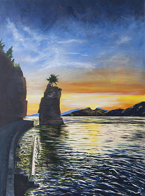 Siwash August Sun Original by Barbara San Severino