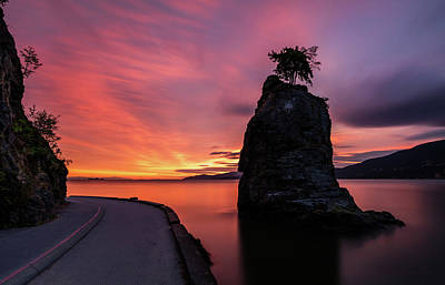 Photograph - Siwash Rock Along The Sea Wall by Pierre Leclerc Photography