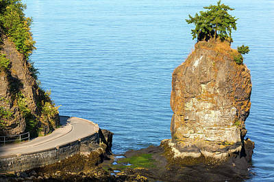 Photograph - Siwash Rock By Stanley Park Seawall by David Gn
