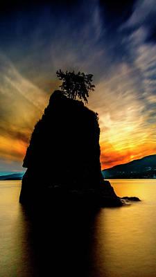 Canadian Landscape Photograph - Siwash Sunset by Stephen Stookey