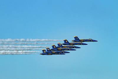 Photograph - Six Blue Angels by Bonnie Follett