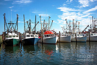 Art Print featuring the photograph Six Boats In The Bay by John Rizzuto