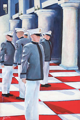Barite Wall Art - Painting - Six Cadets by Shelia Thompson