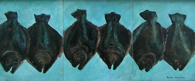 Flounder Painting - Six Flounder by Patty Weeks