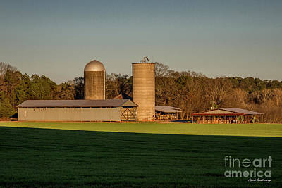 Barn And Silo Photograph - Six Friends The Iron Horse Collection Greene County Art by Reid Callaway