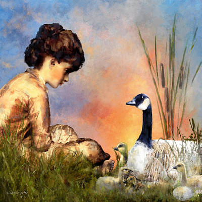 12 Days Of Christmas Painting - Six Geese A Laying by Kimberly Potts