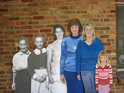 Six Generations Of Women Art Print by Betty Pieper