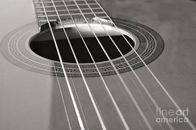 Six Guitar Strings Art Print by Angelo DeVal