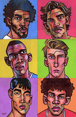 Portraits Royalty-Free and Rights-Managed Images - Six Guys by Douglas Simonson