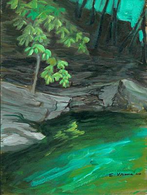 Six Mile Creek Ithaca New York Original by Ethel Vrana
