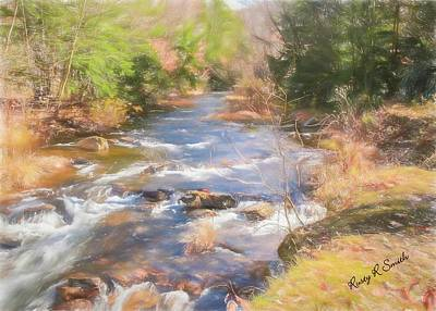 Digital Art - Six Mile Run Premier Trout Stream. by Rusty R Smith