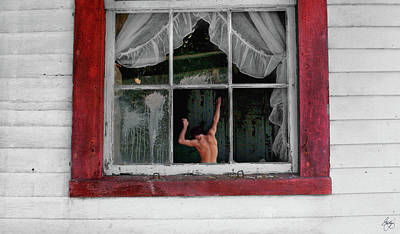 Photograph - Six Panes And A Man by Wayne King