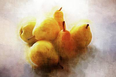 Photograph - Six Pears by Alice Gipson
