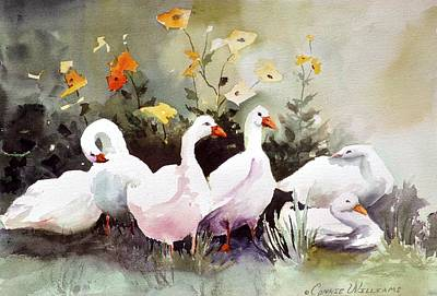 Painting - Six Quackers by Connie Williams