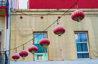 Photograph - Six Red Lanterns by Bonnie Follett